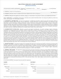 Simple money agreement between two parties 4. Non Disclosure Agreement Template Unilateral And Mutual Nda