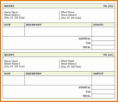 receipt blank 7 blank receipt template expense report