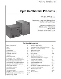 Installation Manual Rheem Geothermal Systems Manualzz Com