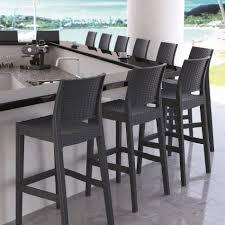 wicker outdoor bar stool