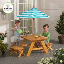 Amazon Outdoor Table w Benches & Umbrella Toys & Games