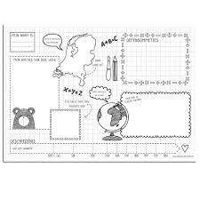 Bureau Onderlegger Placemat Notitieblok Voor Kinderen Schrijven