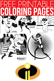 Free Printable The Incredibles Coloring Pages Activity Sheets