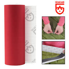 gear aid tenacious tape fabric repair tape 3 x20 red