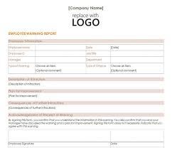Employee Warning Form Free Free Employee Warning Form Rome Fontanacountryinn Com