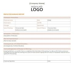 warning forms for employees free employee warning notice employee forms business