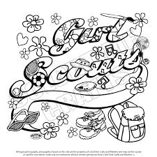 Small Picture Free girl scout coloring pages