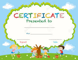 certificates of completion for kids kids certificate template free download