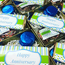 happy anniversary chocolate gift baskets this chocolate gift basket can be customized with your personal information makes a great gift or party favor
