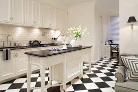Beautiful black and white kitchens black and white reign supreme in this  kitchen, with checkerboard