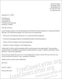 Build Cover Letters Construction Project Manager Cover Letter Sample