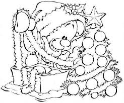 Cartoon Christmas Coloring Pages Printable Dollarbillus