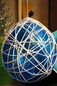 chandelier string ball weekend diys yarn chandeliers allison affourtit