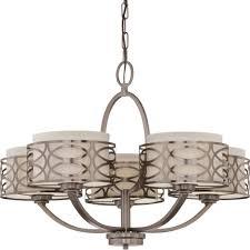 harlow hazel bronze chandelier linen drum shades 28 wx20 h