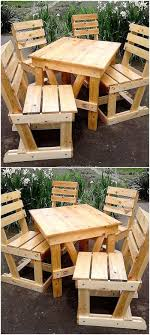 patio furniture pallets. Pallets Made Patio Chairs And Table Furniture E