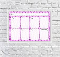 Weekly Timetable Planner Student Planner Weekly Schedule For Girls Dry Erase Planner Dry Wipeboard After School Timetable