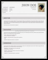 Best Free Resume Template Free Resume Templates Cv Template And Sample Throughout 100 46