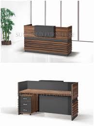 Salon Reception Desk Luxury China Popular Simple Wooden Front Office Counter  Salon Reception
