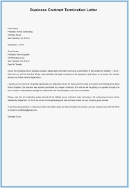 notice letter termination employment contract template printable agreement gallery
