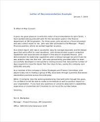Letter Of Recomendation Example Examples Of Recommendation Letters Sample Recommendation Letters 8