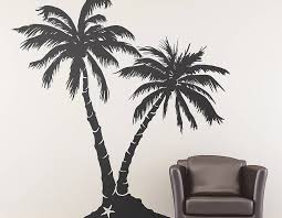 palm tree beach wall sticker