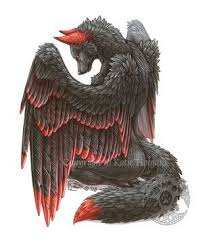 red and black wolf with wings. Exellent Black The Black Wolf With Red On The Tip Of Its Feathers And Ears For Red And Black Wolf With Wings Pinterest