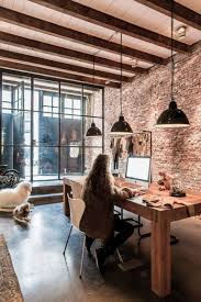 Relaxing Office Design 35 Relaxation Chic Home Office Designs With Brick Walls