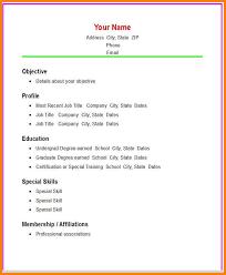 Easy Simple Resume Template Sarahepps Com