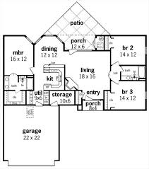 first floor plan image of featured house plan pbh 7326