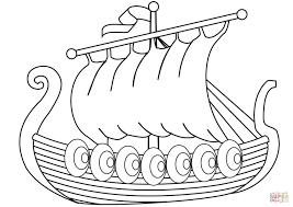 Schip Van Vikingen Kleurplaat Gratis Kleurplaten Printen