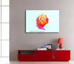 3 piece yellow orange wall art painting light blue background red orange purple shape print on canvas the picture abstract in painting calligraphy from  on red and light blue wall art with 3 piece yellow orange wall art painting light blue background red