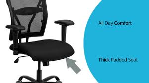 husky office heavy duty 400 lb capacity big tall high back black mesh office chair with arms