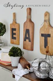 Kitchen wall decorating ideas Decals Wood Cutting Board Homebnc 36 Best Kitchen Wall Decor Ideas And Designs For 2019