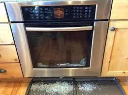oven door glass shattered during self clean the process inner middle can one use cleaning option