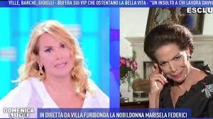 Domenica Live, Barbara D'Urso litiga con Marisela Federici