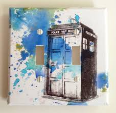 Decorative Light Switch Plates Doctor Who Tardis Decorative Double Light Switch Plate Cover