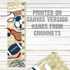 Mvp Sports Themed Childs Growth Chart Available As A Canvas