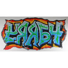 personalised graffiti wall art canvas