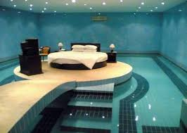 Although it may seem a little cold and very dangerous if you come home  drunk and don't know how to swim, but this is probably the coolest modern  bedroom we ...