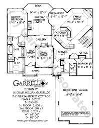 pleasantcrest cottage house plan house plans by garrell Four Bedroom Cottage House Plans pleasantcrest cottage house plan 05209, 1st floor plan 4 bedroom cottage house plans