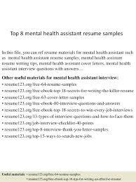 Mental Health Assistant Cover Letter Rileos Com