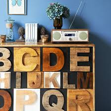 storage ideas for office. Home Office With Wooden Lettered Storage Chest And Blue Wall Ideas For L