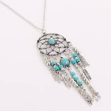 Dream Catcher Rules Women Bohemia Tassels Feather Pendant Dreamcatcher Necklace 39