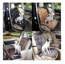 our pawprint single seat car seat covers provide dogs with a cushy ride and