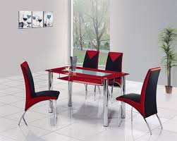 glass dining table set. Compact Glass Dining Table Set