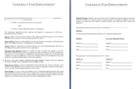 Free Employment Contract Templates Employment Contract Template Free Contract Templates Employment