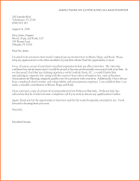 sample thank you letter after job interview