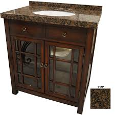 afd brown stone top bathroom vanity two glass doors