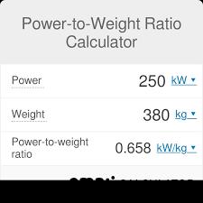 Power To Weight Ratio Calculator Omni