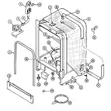 crosley crosley dishwasher parts model cdu8000b sears partsdirect tub